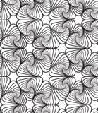 Zwart-witte Op Art Design Vector Seamless Pattern Achtergrond Stock Afbeelding