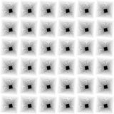 Zwart-witte optische illusie stock illustratie