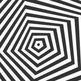 Zwart-witte optische illusie Royalty-vrije Stock Foto