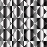 Zwart-witte Optische illusie, Vector Naadloos Patroon. vector illustratie