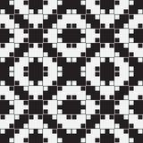 Zwart-witte Optische illusie, Vector Naadloos Patroon. stock illustratie