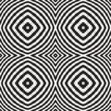 Zwart-witte Optische illusie, Vector Naadloos Patroon. royalty-vrije illustratie