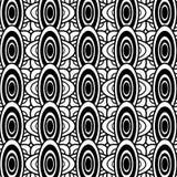 Zwart-witte ovale geometrische patroonachtergrond royalty-vrije illustratie