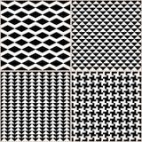 Zwart-witte Patronen vector illustratie