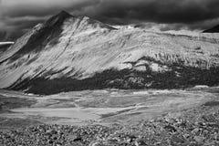 Zwart-witte piek stock fotografie