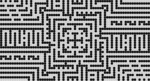 Zwart-witte pixel   Royalty-vrije Stock Foto's