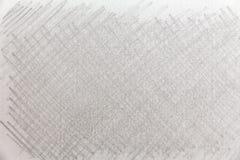 Zwart-witte potloodslagen op Witboek stock afbeelding