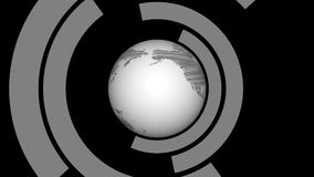 Zwart-witte Retro Aardelijn stock footage