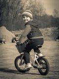 Zwart-witte retro foto royalty-vrije stock afbeelding