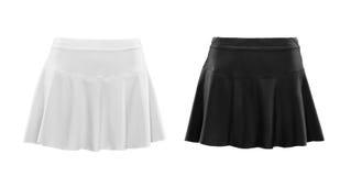Zwart-witte rok die op witte achtergrond wordt geïsoleerd Royalty-vrije Stock Foto's