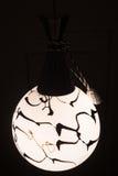 Zwart-witte ronde lamp in binnenland royalty-vrije stock afbeelding