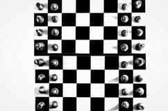 Zwart-witte schaakbord hoogste mening royalty-vrije stock afbeelding