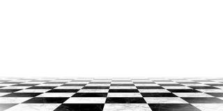 Zwart-witte schaakbordachtergrond Stock Afbeelding