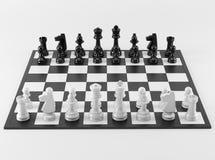 Zwart-witte Schaakraad Royalty-vrije Stock Afbeeldingen