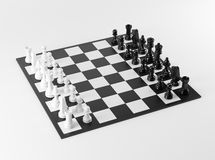 Zwart-witte Schaakraad Royalty-vrije Stock Foto's