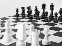 Zwart-witte Schaakraad Royalty-vrije Stock Foto