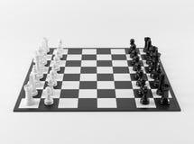 Zwart-witte Schaakraad Stock Afbeeldingen