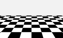 Zwart-witte schaakraad in verschillend perspectief vector illustratie