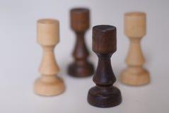Zwart-witte schaakroeken royalty-vrije stock foto