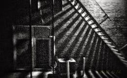 Zwart-witte schaduwpret Stock Afbeeldingen