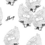 Zwart-witte sheeps Stock Foto's