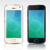 Zwart-witte smartphone van voorzijde Royalty-vrije Stock Foto's