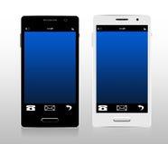 Zwart-witte smartphones Stock Fotografie