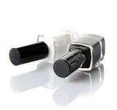 Zwart-witte spijkervernis Stock Afbeeldingen