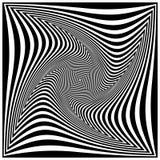 Zwart-witte spiraal Stock Foto