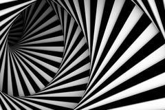 Zwart-witte spiraal stock illustratie