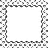Zwart-witte Ster van David Patterned Background met Embroide Royalty-vrije Stock Foto