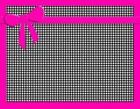Zwart-witte stippen met hete roze boog Royalty-vrije Stock Afbeelding