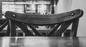 Zwart-witte stoel Stock Afbeeldingen
