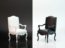Zwart-witte stoelen stock fotografie