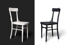 Zwart-witte stoelen Royalty-vrije Stock Foto