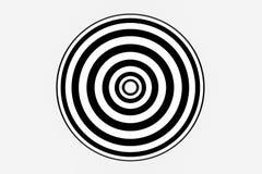 zwart-witte streep, die lijnen, het 3d teruggeven herhalen stock illustratie