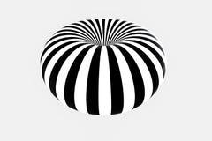 zwart-witte streep, die lijnen, het 3d teruggeven herhalen royalty-vrije illustratie