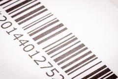 Zwart-witte streepjescode Stock Fotografie