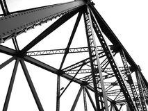Zwart-witte structureel van brug Royalty-vrije Stock Afbeelding