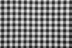 Zwart-witte tafelkleedachtergrond Stock Fotografie