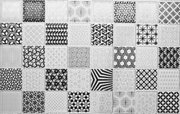 Zwart-witte tegel Stock Afbeelding