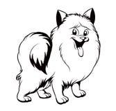 Zwart-witte tekening van de hond royalty-vrije illustratie