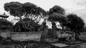 Zwart-witte tempel stock foto's