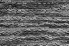 Zwart-witte textuurachtergrond van de stenenmuur, Royalty-vrije Stock Foto's
