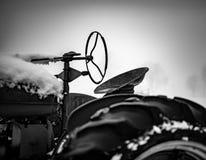 Zwart-witte Tractor Seat royalty-vrije stock foto's