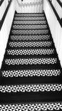 Zwart-witte trappatronen Stock Foto's