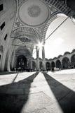 Zwart-witte Turkse Moskee Royalty-vrije Stock Foto's