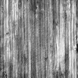 Zwart-witte uitstekende houten korreltextuur Stock Afbeeldingen