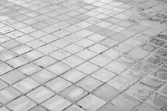 Zwart-witte van de steenvloer textuur als achtergrond stock fotografie