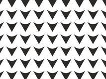 Zwart-witte van het pijlenpatroon vector als achtergrond Stock Afbeelding